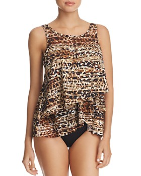 Miraclesuit - Wild Side Mirage Tankini Top & Solid Basic Tankini Bottom