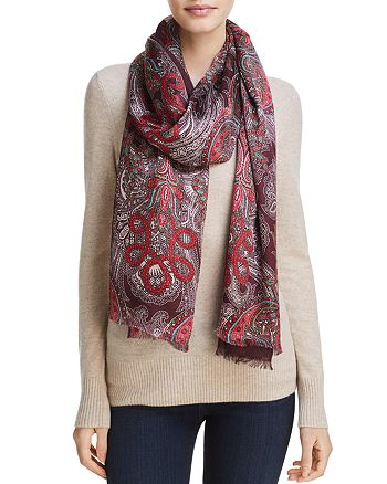 Echo - Paisley Jewel Tubular Wrap Scarf