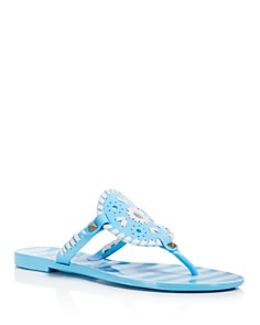 Jack Rogers Women's Georgica Striped Jelly Thong Sandals - Bloomingdale's_0
