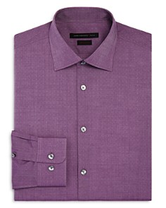 John Varvatos Star USA - Floating Micro Diamond Regular Fit Stretch Dress Shirt