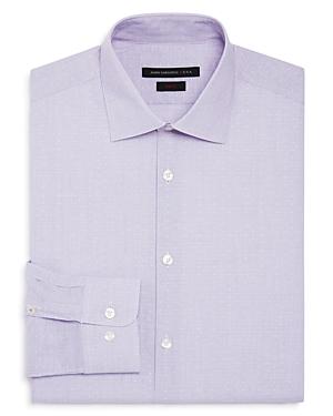John Varvatos Star Usa Micro Stripe Square Slim Fit Stretch Dress Shirt