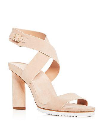69c03fecb0b0 HALSTON HERITAGE Women s Nala Suede Ankle Wrap High-Heel Sandals ...