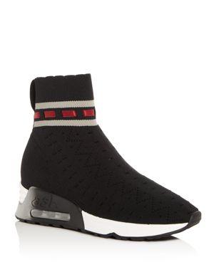 Ash Women's Link Knit High Top Wedge Sneaker Booties