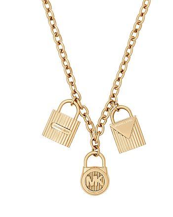 "Michael Kors - Padlock Pendant Necklace, 16"""