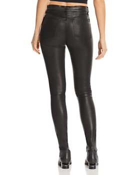 rag & bone/JEAN - High-Rise Skinny Leather Pants