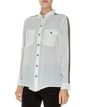The Kooples Bead-Embellished Silk Shirt thumbnail