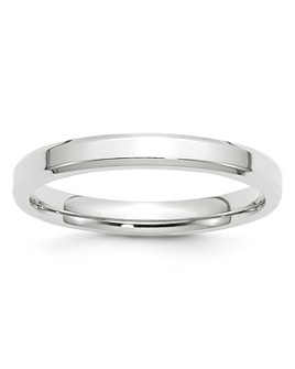 Bloomingdale's - Men's 3mm Bevel Edge Comfort Fit Band in 14K White Gold - 100% Exclusive