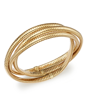 Bloomingdale's Triple Tubogas Bracelet in 14K Yellow Gold - 100% Exclusive