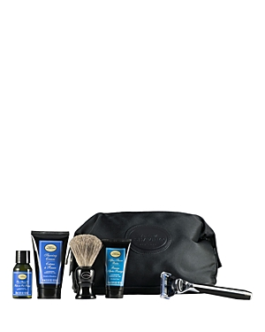 The Art of Shaving Travel Kit with the Morris Park Collection Razor offers the 4 Elements of the Perfect Shave in Tsa-approved travel sizes. The Travel Kit is a perfect initiation to The Art of Shaving regimen. The kit includes a Morris Park Collection Razor in black, a shaving brush, a black travel bag made of nylon with faux leather trim, a 1 oz. Pre-Shave Oil - Lavender, a 1.5 oz. Shaving Cream - Lavender and a 1 oz. After-Shave Balm - Lavender. This set will deliver the clean close and comfo