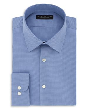 The Men's Store at Bloomingdale's Micro Check Regular Fit Dress Shirt - 100% Exclusive thumbnail