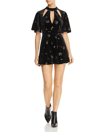 Lost and Wander - Genevieve Cutout Velvet Romper