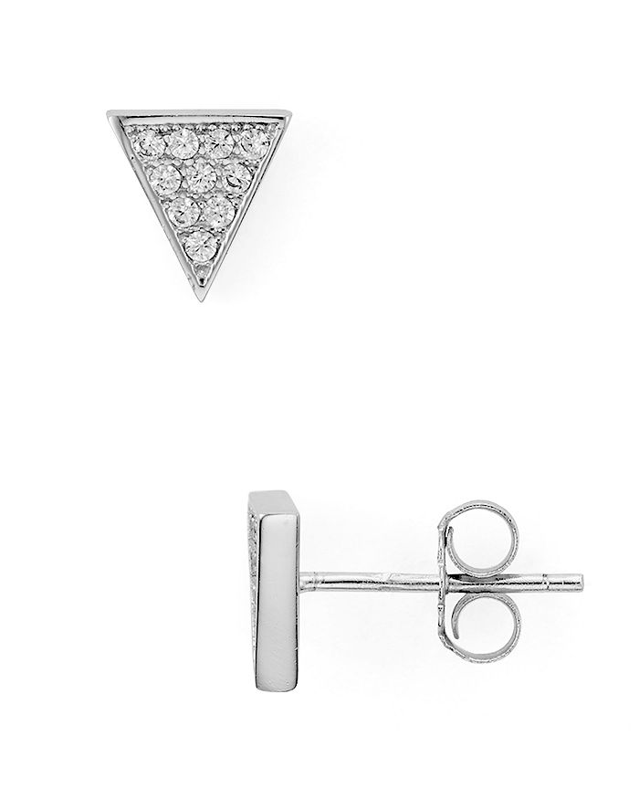 AQUA - Sterling Silver Triangle Stud Earrings - 100% Exclusive