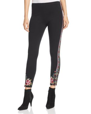 Johnny Was Collection Langley Embroidered Leggings