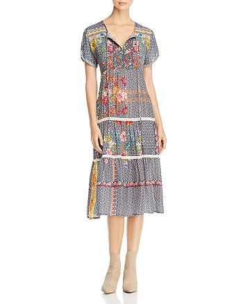 Johnny Was Collection - Charm Embellished Midi Dress