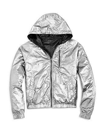 BLANKNYC - Girls' Reversible Metallic Rain Jacket - Big Kid