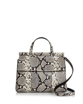 ae3462697ce4 Tory Burch - Block-T Snake-Embossed Leather Satchel