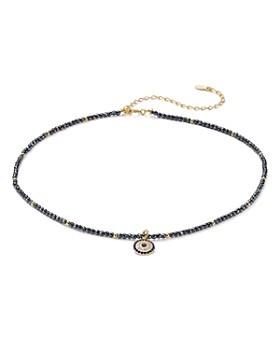 "AQUA - Sterling Silver Pendant Choker Necklace, 14"" - 100% Exclusive"