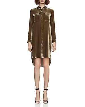 Bcbgmaxazria Abee Velvet Shirt Dress