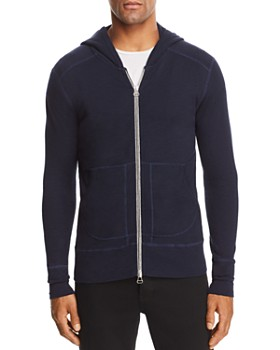 Wings and Horns - 1x1 Slub Zip Hooded Sweatshirt