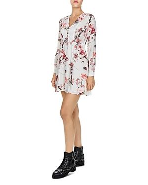 The Kooples Moulin Blanc Floral-Print Silk Dress