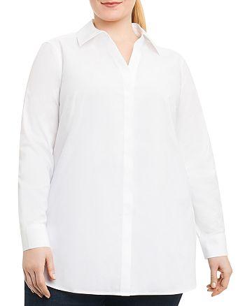 Foxcroft Plus - Vera Button-Down Tunic Top