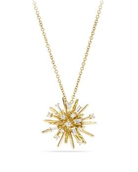 David Yurman - Supernova Small Pendant Necklace with Diamonds in 18K Gold