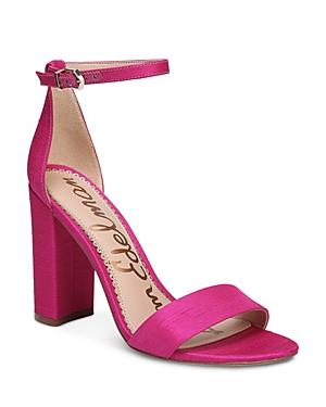 Sam Edelman Women's Yaro Silk Block Heel Ankle Strap Sandals