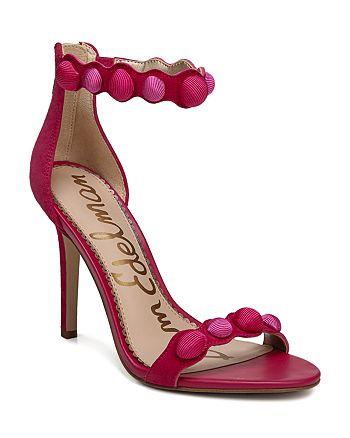 540f6d6b7258 Sam Edelman Women s Addison Suede High-Heel Ankle Strap Sandals ...