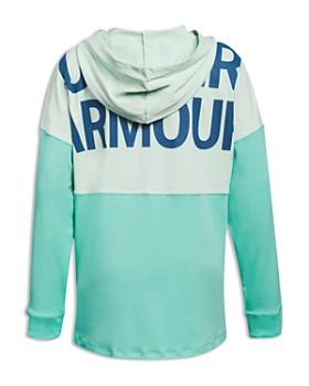 Under Armour - Girls' Color-Block Logo Hoodie - Big Kid