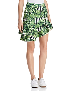 Red Carter Sabrinah Asymmetric Printed Skirt