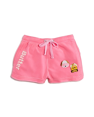 Butter Girls' Fleece Shorts with Patches - Big Kid