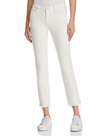 MOTHER - The Rascal Ankle Snippet Jeans in Whipping the Cream