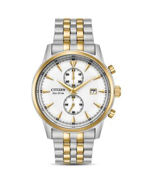 CITIZEN ECO-DRIVE MEN'S CHRONOGRAPH CORSO TWO-TONE STAINLESS STEEL BRACELET WATCH 43MM
