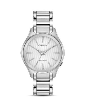 Eco-Drive Women'S Silhouette Stainless Steel Bracelet Watch 35Mm in Silver