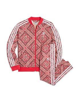 Adidas - Girls' Printed French Terry Jacket & Track Pants - Big Kid