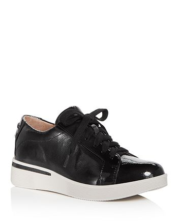 ba9795f6b4d1 Gentle Souls by Kenneth Cole - Women s Haddie Patent Leather Lace Up  Sneakers