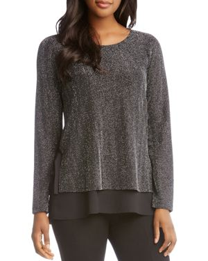 Karen Kane Metallic Side-Tie Top
