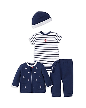 Little Me Boys Nautical Sweater Bodysuit Jogger Pants  Cap Set  Baby