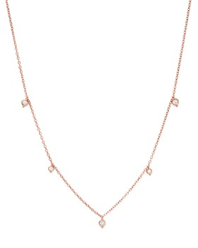 Bloomingdale's - Diamond Bezel Charm Station Necklace in 14K Rose Gold, 0.25 ct. t.w. - 100% Exclusive