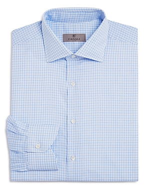 Canali Check Regular Fit Dress Shirt