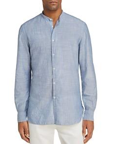 Eidos - Thin Stripe Washed Regular Fit Button-Down Shirt