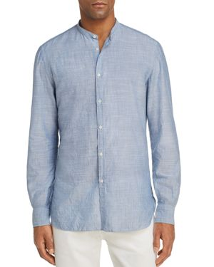 EIDOS THIN STRIPE WASHED REGULAR FIT BUTTON-DOWN SHIRT