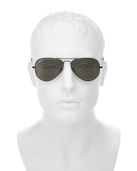 Ray-Ban - Unisex Polarized Original Aviator Sunglasses, 58mm