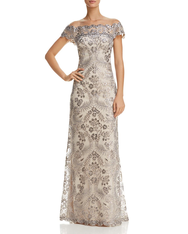 Tadashi Shoji Embellished Illusion Gown | Bloomingdale\'s