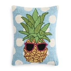 "Peking Handicraft Polka-Dot & Pineapple Decorative Pillow, 18"" x 18"" - 100% Exclusive - Bloomingdale's_0"