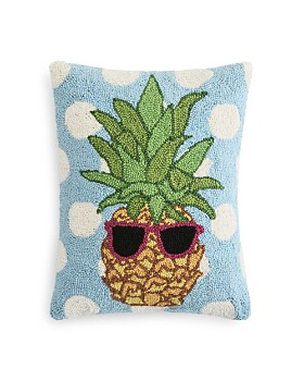 "Peking Handicraft - Polka-Dot & Pineapple Decorative Pillow, 18"" x 18"" - 100% Exclusive"