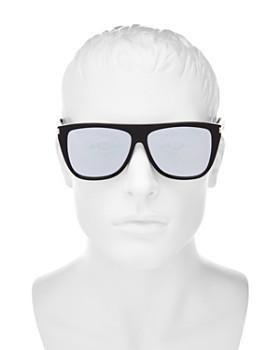 Saint Laurent - Men's SL 1 Mirrored Flat Top Square Sunglasses, 59mm