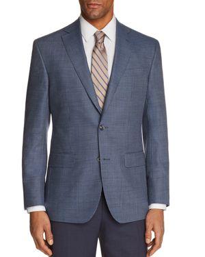 JACK VICTOR Micro Houndstooth Regular Fit Sport Coat in Blue