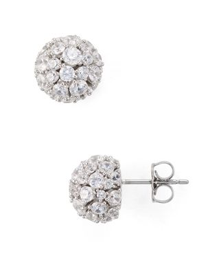 Nadri Mare Pave Ball Earrings