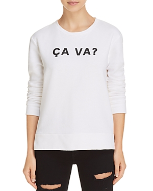 French Connection Ca Va? Graphic Sweatshirt